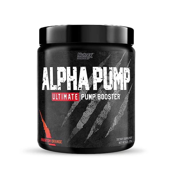 Nutrex Alpha Pump Stim-Free Pre-Workout Pump Booster- 176g