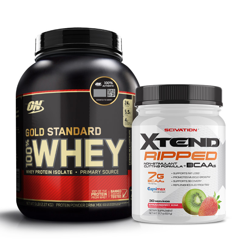 gold standard whey - whey gold standard - whey - xtend ripped - fat loss - burn fat - fat burner - recovery - protein - bcaa