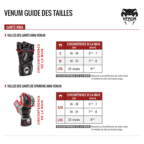 Venum Impact MMA Gloves - Skintex Leather