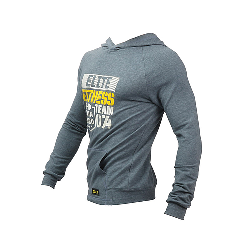 Zilla USA ELITE FITNESS HOODIE BLUE GRAY